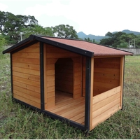 SDD011 High Quality With Porch Wooden Luxury Outdoor Dog House