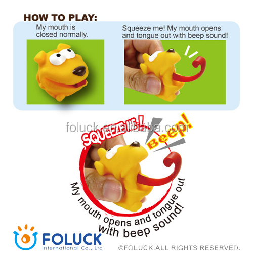 PVC mini Rolling Tongue Squeeze Toys