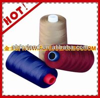 polyester 5000m white sewing thread silicone oil