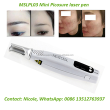 MSLPL03 Cheapest Blue Light/ Red Light picosecond laser pen for melanin removal, dark spot removal