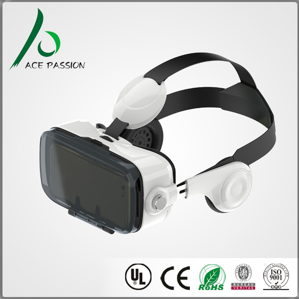 3D VR Glasses with built in Hi-fi Headphone virtual reality glasses