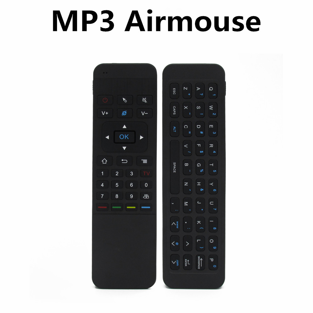 2.4G Smart Remote Control Air Mouse Wireless Keyboard for MP3 Android Mini PC TV Box Remote Control For Laptop Black