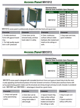 celling Access panel/aluminium accelling panel/drywall panel