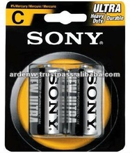 SONY High Quality Carbon Zinc 1.5V C Size Dry Battery
