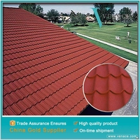 Modern design hot sale economical decorative stone coated steel roofing tile