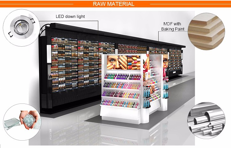 cosmetic store layout for makeup stand mall kiosk