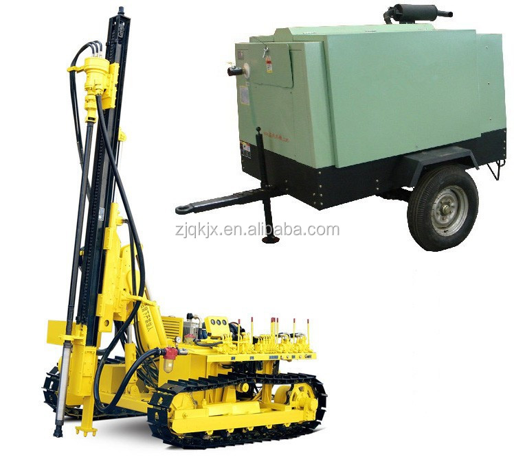 Low air pressure Portable Mining Drilling Rig Machine