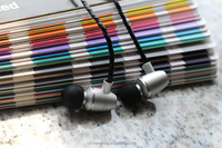Metal Earbuds In-Ear Earphones with Mic Cell Phone Headset Bass Cool DJ Stereo Earbuds