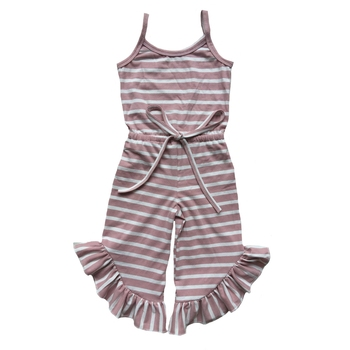 ruffle summer kids outfits children's romper jumpsuit kids overalls boutique baby infant clothes for girls