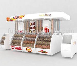 mall candy kiosk / candy metal display stand kiosk/candy Rack
