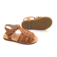 wholesale gladiator boys girls hard sole toddler sandals leather baby shoes