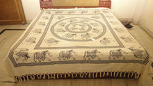 Elephant printed bed cover printed bedsheet