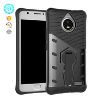 New hot sale stand mobile phone case for moto E4 cover shockproof dual layers