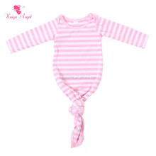 kaiya hot sale newborn baby clothes pink stripe boutique cotton infants gowns