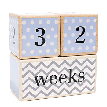 Wood Baby Age Blocks Baby Shower Gift Nursery Decor Wooden Baby Age Photo Block For  Showing Age Tool