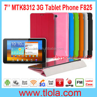 Cheap 7 inch Tablet 3G with MTK8312 Dual Core Android 4.2.2 GPS Bluetooth FM Radio Built-in Leather Case F825