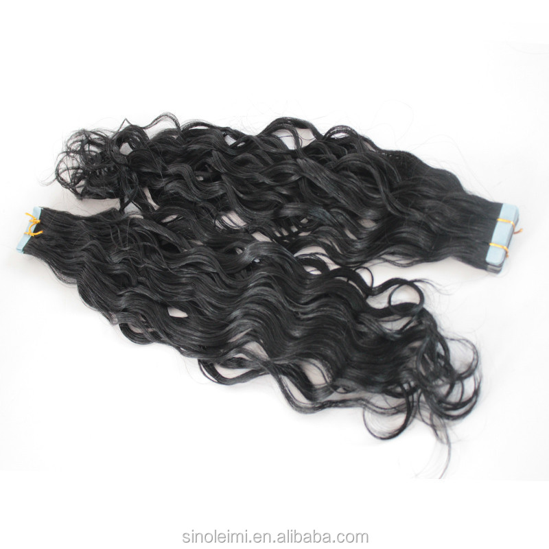 cheap Wavy Tape Hair Extensions, Virgin Brazilian Hair Tape In Hair Extension, Skin Weft soft and smooth