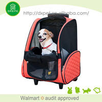 DXPB010 Factory supply washable durable airline approved pet carriers on wheels
