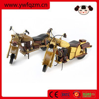 Home decor wood craft wooden motorcycle toys