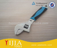 2-tone short handle and adjustable wrench,spanner,hand tool