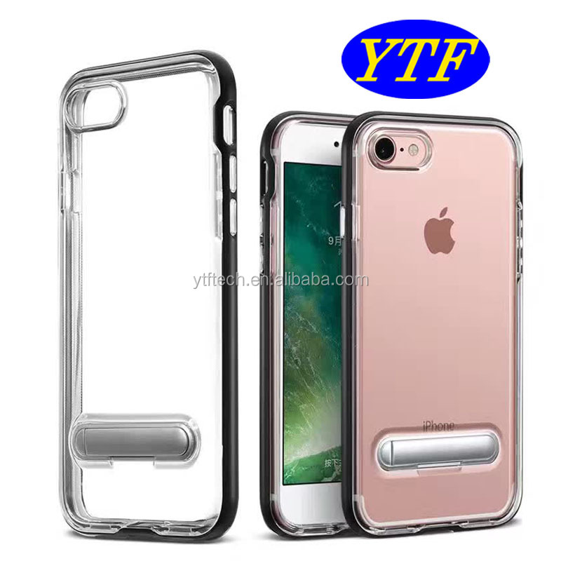 2017 new design magnetic buckle pc bumper soft tpu mobile phone case for iphone7