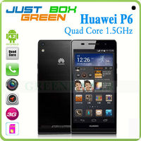 100% Original Brand Huawei Ascend P6 Mobile phone Quad core 1.5GHz 4.7inch Touch Screen 2GB 8GB Android 4.2 Camera 5MP 8MP