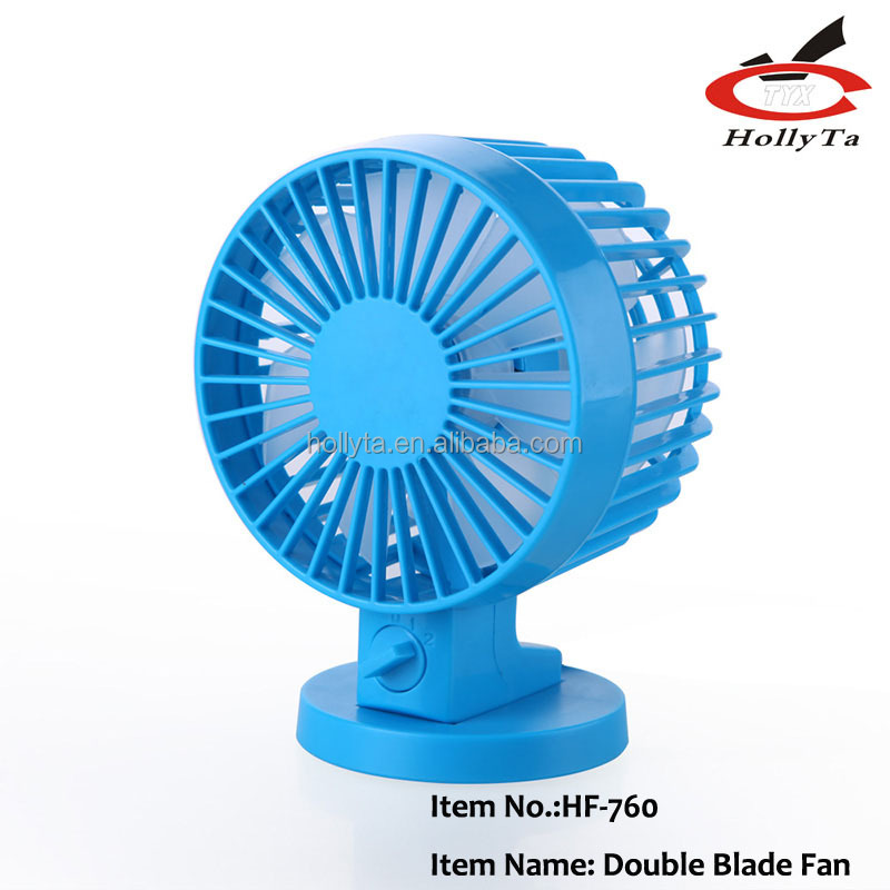 Plastic double blade no noise table fan usb mini fan small fan