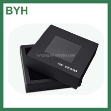 Black paper custom cardboard gift boxes with Pvc window/cardboard gift boxes with clear window/christmas cardboard gift boxes