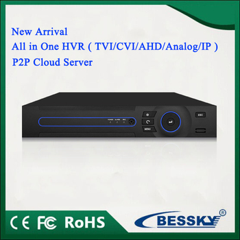 BE-3404P 4CH 5 all in 1 HVR Support Full 1080P AHD,TVI,CVI, 960H Analog,Max 5MP IPC