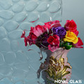 3-6mm Hibiscus/Rainbow/Morgon-II/Bubble/Cobble Patterned Glass from Noval Glass in China