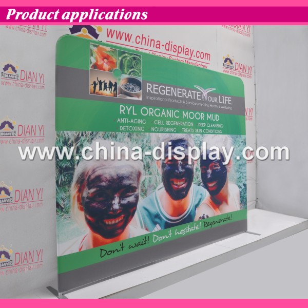 Tension fabric trade show booth 10x10 with aluminum frame