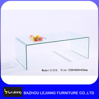 chinese bent glass tea table