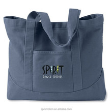100% cotton heavy enzyme-washed canvas Authentic Pigment Dyed Canvas Tote Bag self-fabric handles