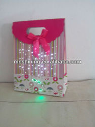 luxury printed led light up paper bag