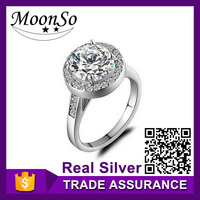 wholesale high quality MOONSO greek wedding ring silver wedding penis ring silver wedding ring KR804S