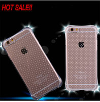 ultra thin TPU clear transparent shockproof case cover for iphone 6 6s 100pcs/lot DHL free