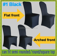 2016 hot sale with best quality spandex black chair cover wedding wholesale
