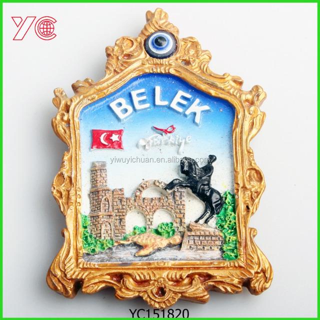 YC151820 Custom Photo Frame With Evil Blue Eye Turkey Souvenir Fridge Magnet For Cities