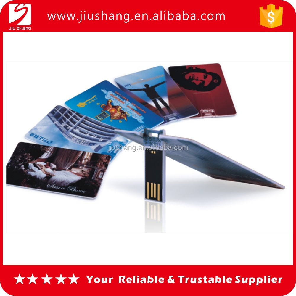 High quality custom plastic credit card usb flash drivers from factory