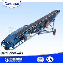 high quality small belt conveyor system/high quality ep rubber elevator inclined belt conveyor