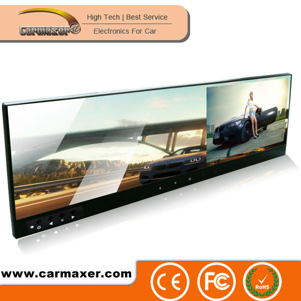 Good quality OEM HD GPS with Touch buttons rear view mirror glasses