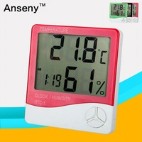 China Supplier Wall Clock Hygrothermograph Indoor