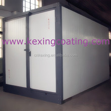 Curing oven powder coating