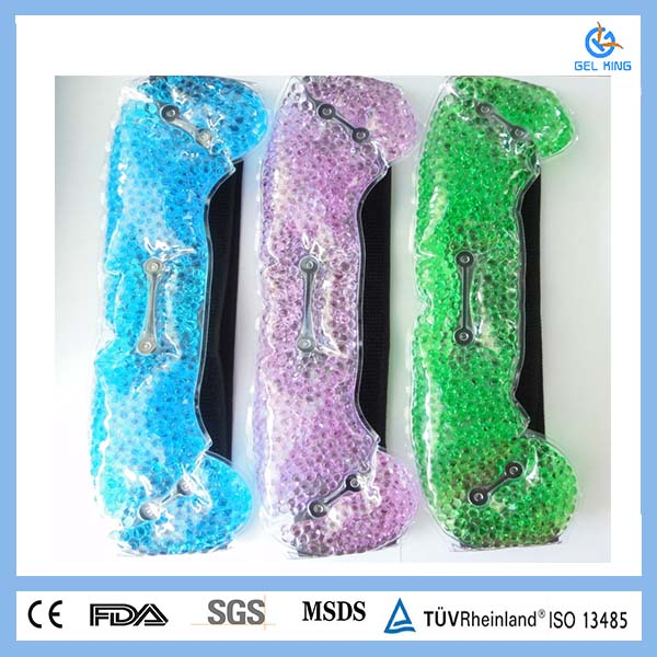 Colorful gel beads medical hot and cold therapy wrap