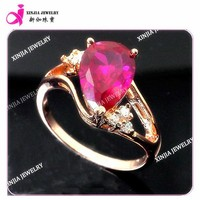 shiny red ruby inlaid ring shiny polished comfort fit ruby ring plating gold ring jewellery