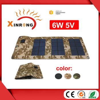 6w 5V Light Foldable Portable Solar Charger