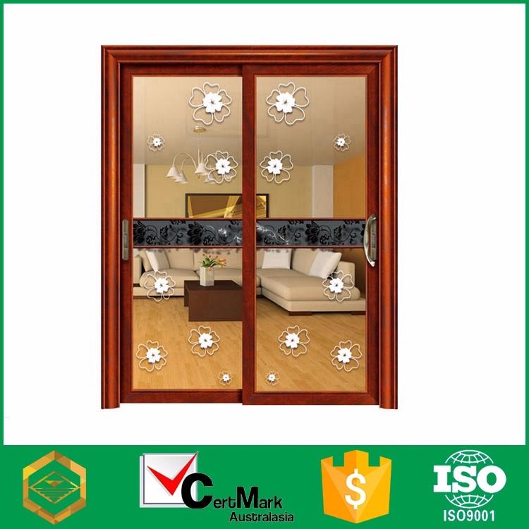 venta caliente de madera de color decoracin tormenta fabricacin interior puerta de cristal para el dormitorio