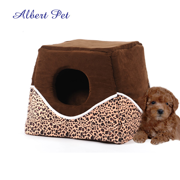 Leopard Wind Proof Pet Nest Cat House Small Pet Supplies