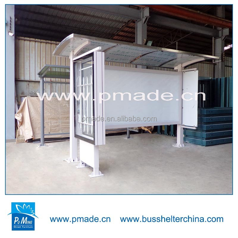 outdoor advertising bus stop display design street furniture bus shelter size