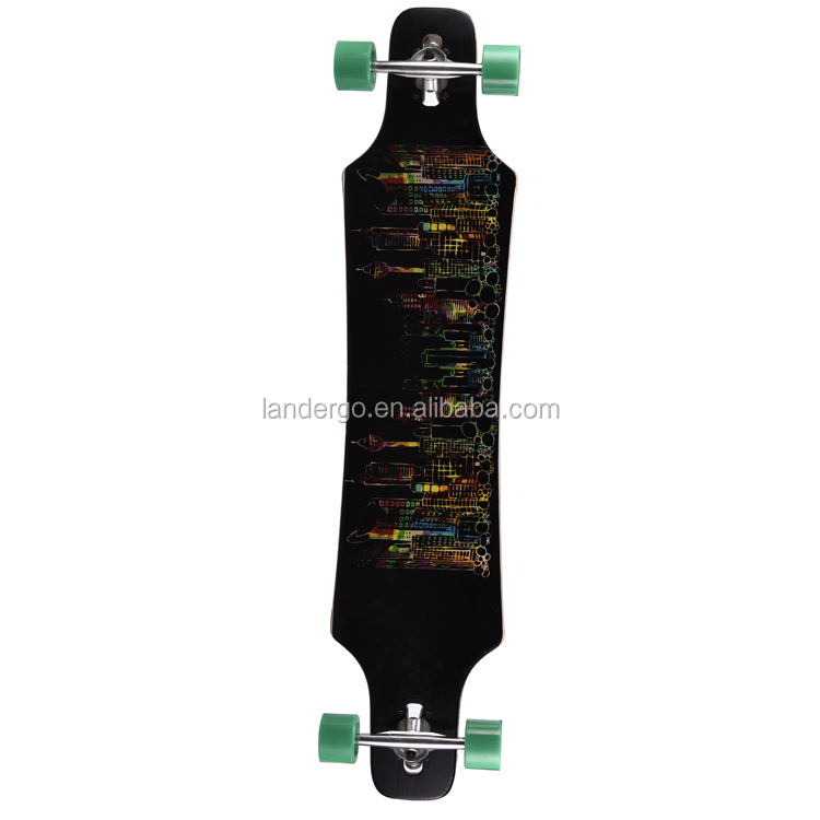 wholesale custom heat transfer printing skateboards for Christmas promotion